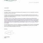 High River (AB) Mayor letter