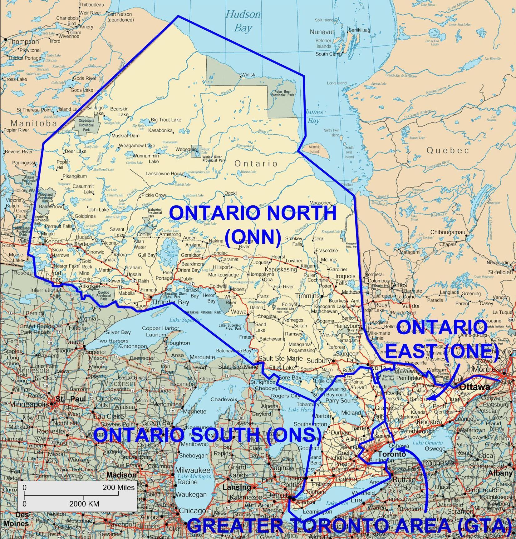Ontario highway map |Ontario Canada Cities Map