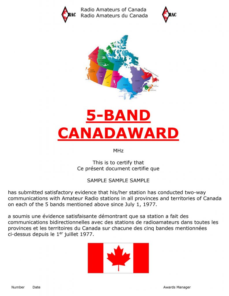5-band Canadaward