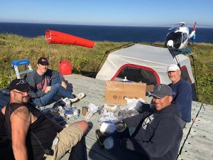 CY9C DXpedition lunch
