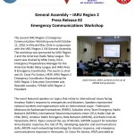 IARU Region 2 Emergency Communications Workshop in Vina del Mar, Chile