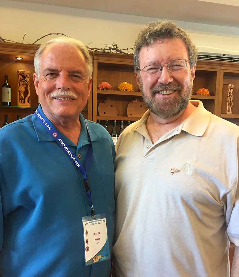 President of the ARRL Rick Roderick, K5UR, with RAC President Glenn MacDonell, VE3XRA. Rick and I are in our first year as Presidents of our organizations.