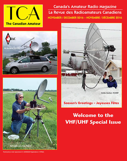 Front cover of the November-December 2016 TCA