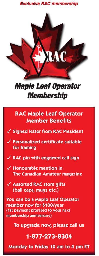 Maple Leaf Member Operator