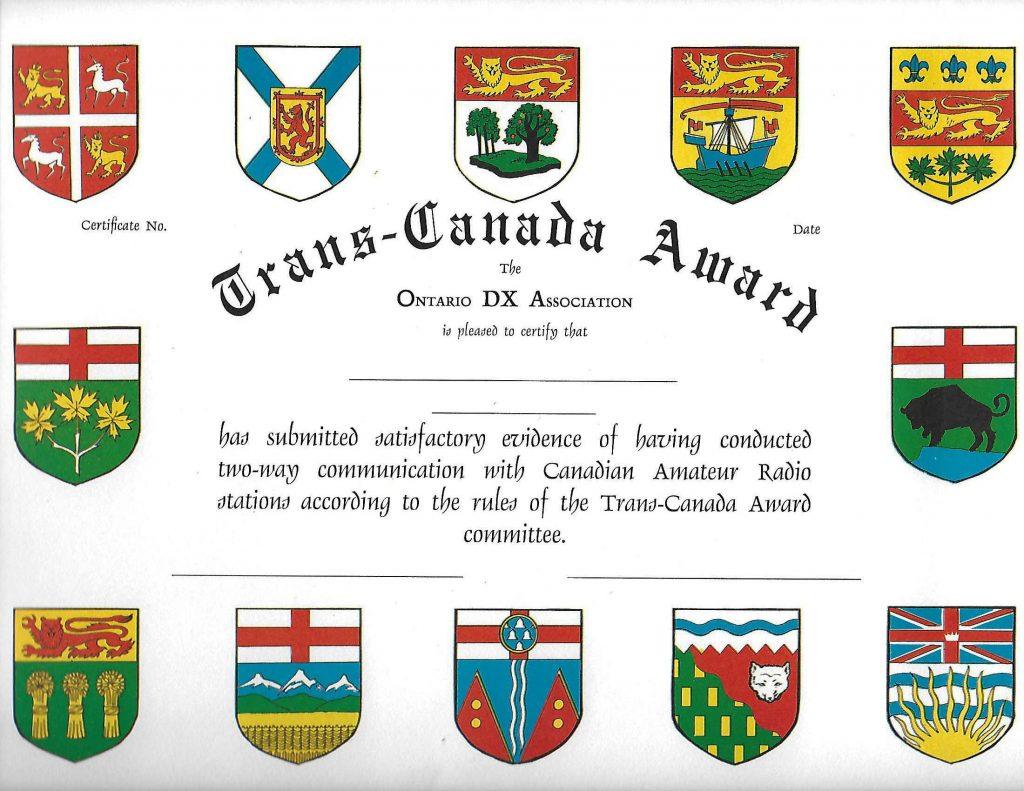 Trans-Canada Award
