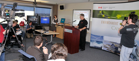 Media briefing at Environment Canada by the Canadian Hurricane Centre