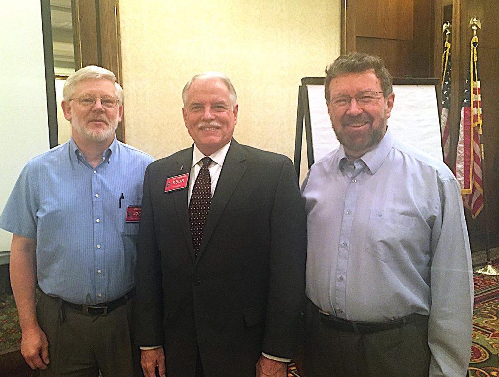 From left: Greg Widin, K0GW (ARRL First Vice President), Rick Roderick, K5UR (ARRL President and Chairman) and Glenn MacDonell, VE3XRA (RAC President)