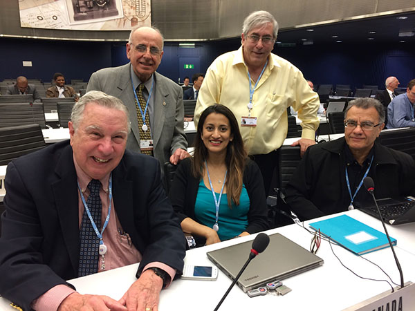 The Canadian delegation to Working Party 5A.