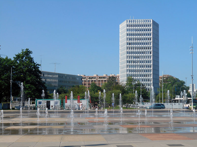 The headquarters of the International Telecommunications Union
