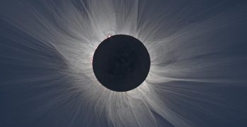 Solar eclipse - white light corona