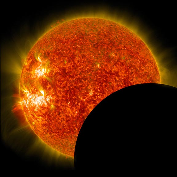 photo of solar eclipse in 2014