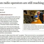 """<span class=""""entry-title-primary"""">Amateurs in the News: """"Ham radio operators are still reaching out""""</span> <span class=""""entry-subtitle"""">Southern Alberta Amateur Radio Club in the news</span>"""