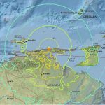 Map of Venezuela showing Earthquake zone