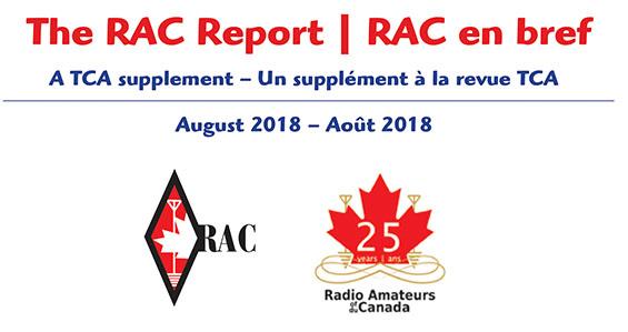RAC Report masthead