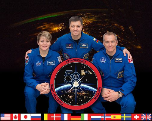 Current International Space Station (ISS) Crew: Anne McClain, Commander Oleg Kononenko and David Saint-Jacques.