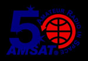 AMSAT 50th Anniversary logo