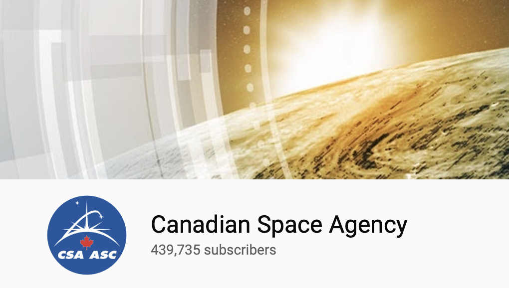 Canadian Space Agency YouTube