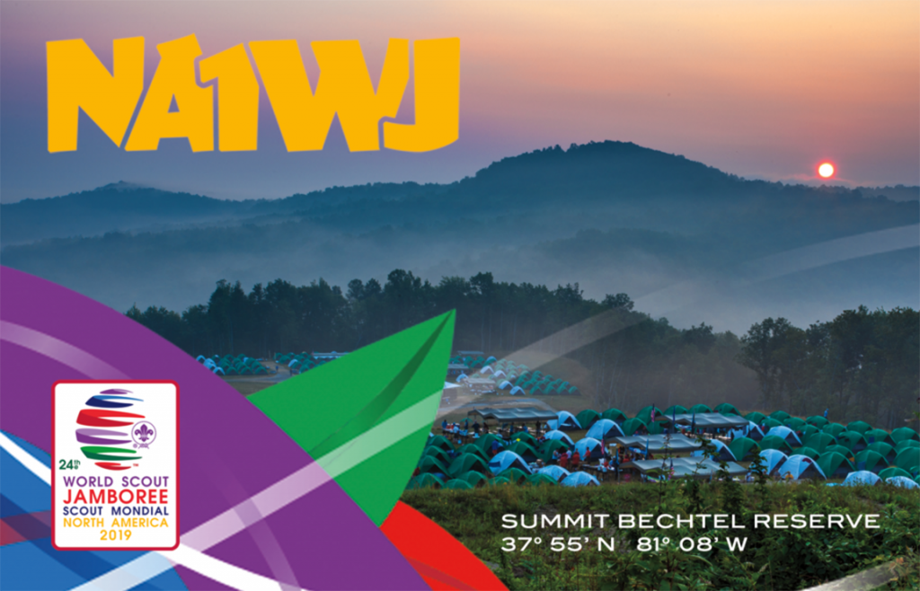 World Scout Jamboree NA1WJ QSL card